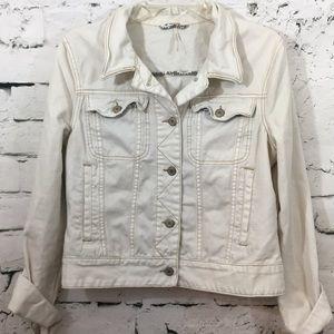 Free People white jean jacket